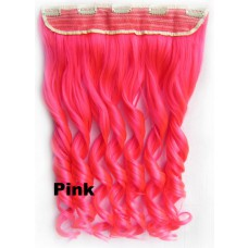 Clip in 1 baan wavy Pink