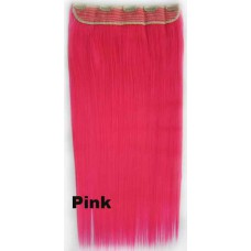 Clip in 1 baan straight Pink