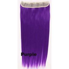 Clip in 1 baan straight Purple