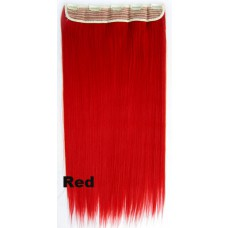 Clip in 1 baan straight Red