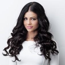 Remy Human Hair extensions curly 14