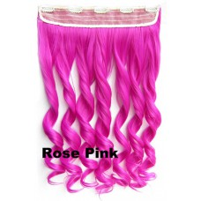 Clip in 1 baan wavy Rose Pink