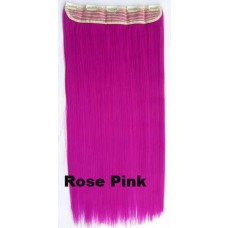 Clip in 1 baan straight Rose Pink