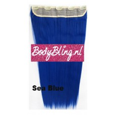 Clip in 1 baan straight Sea Blue