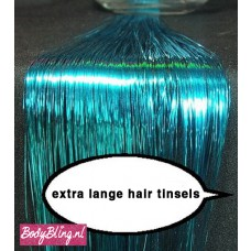 Hair Tinsels Shiny blue #9