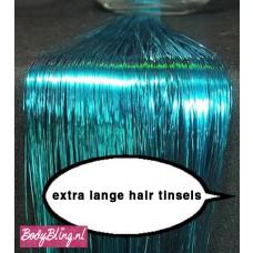 Hair Tinsels Shiny blue #9