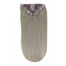 Remy Human Hair extensions straight - silver sand SS