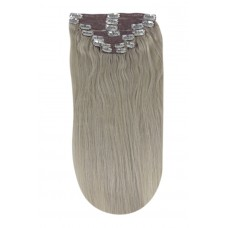 """Remy Human Hair extensions straight 16"""" - silver sand SS"""