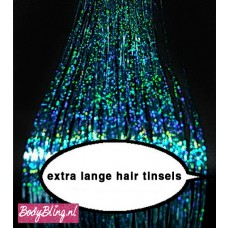 Hair Tinsels Shiny turquoise Blue # 10