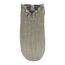 Remy Human Hair extensions Double Weft straight - Silver Sand#
