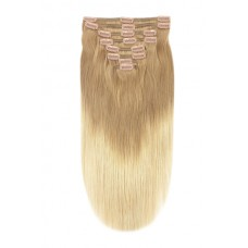 Remy Human Hair extensions straight - blond T18/613