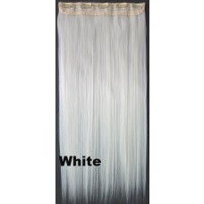 Clip in 1 baan straight White