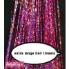 Hair Tinsels Sparkling pink #21