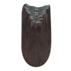 Remy clip in Human Hairextensions 8 banen straight double weft