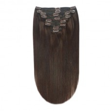 Remy clip in Human Hairextensions 8 banen straight